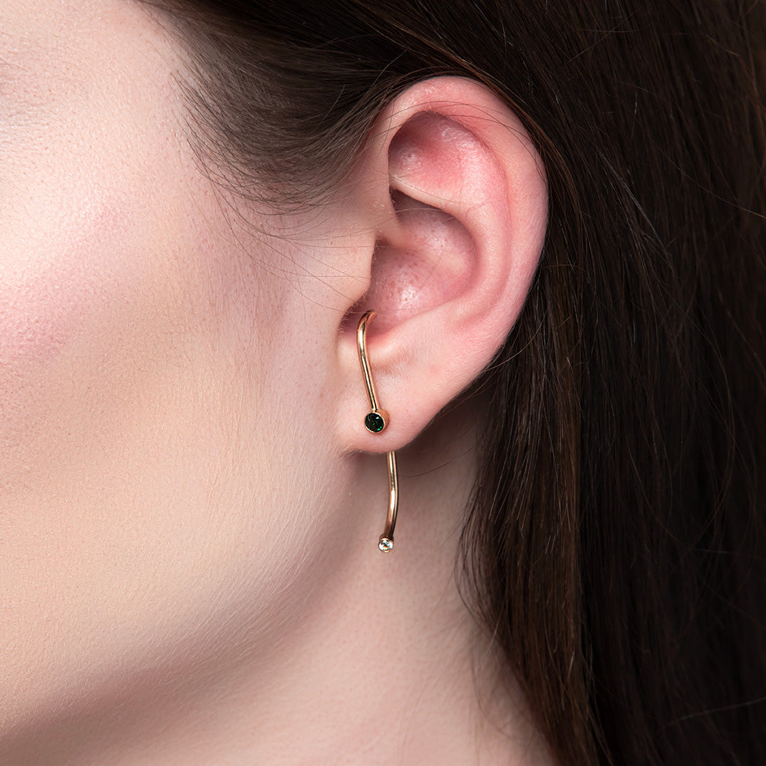 Suspension Ear Jackets, Gold, Rose Gold, or Silver