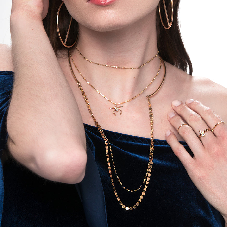 Double Disco Chain Choker Gold layered