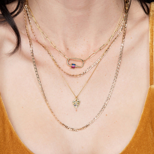 Locker Link Necklace- Multi Color