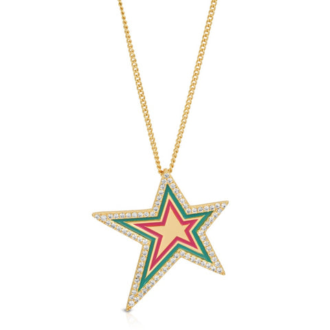 Century Necklace - Green CZ