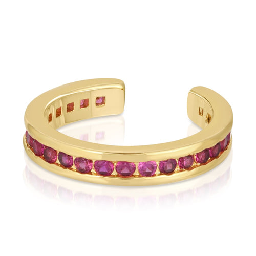 Pave Ear Cuff- Ruby