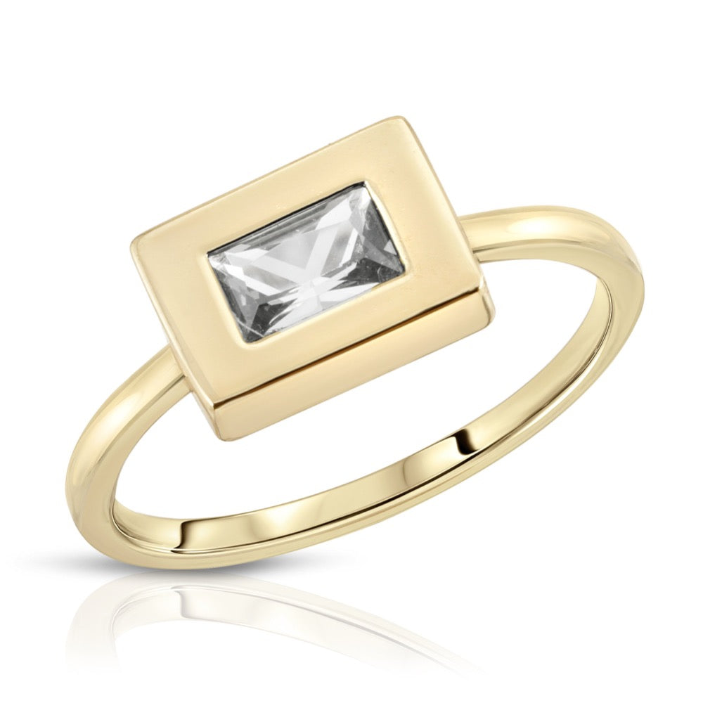 Baguette Block Ring - Clear