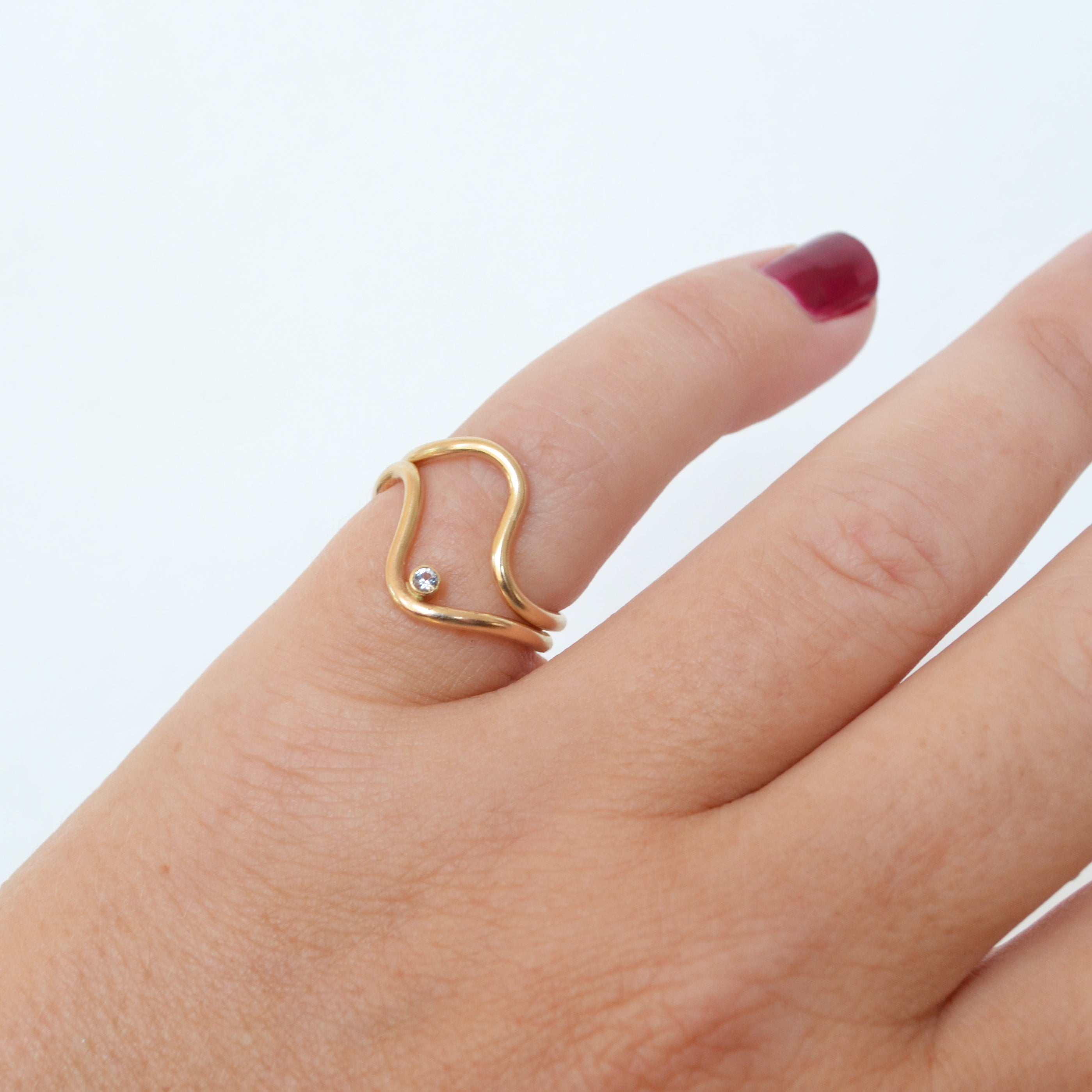 Easy Rider Ring in CZ, Gold or Silver