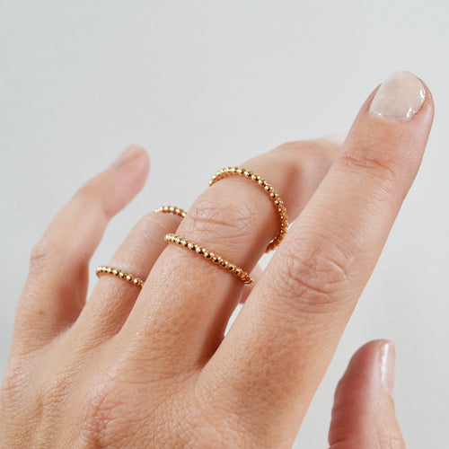 Double Knuckle Ring, Gold, Rose Gold, or Sterling Silver