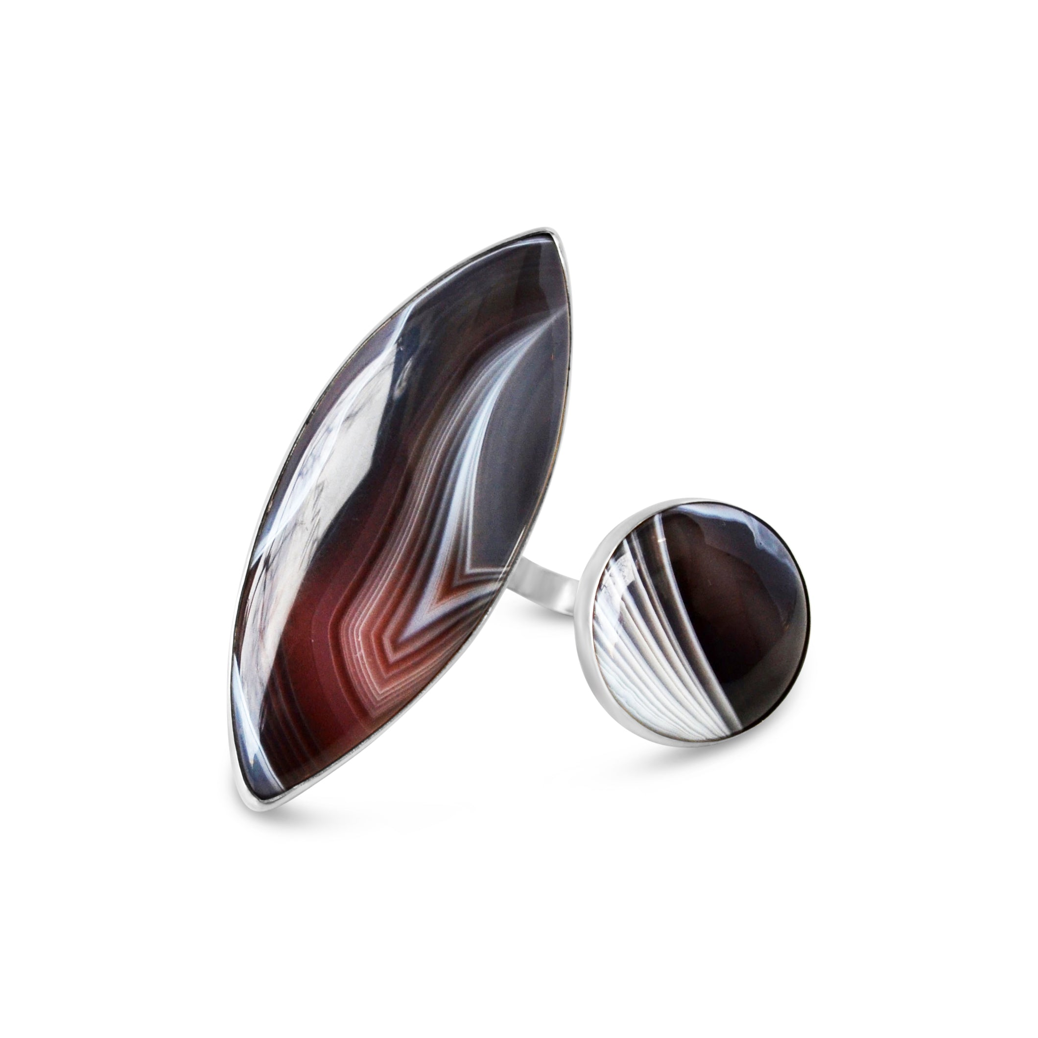 Botswana Agate Statement Ring