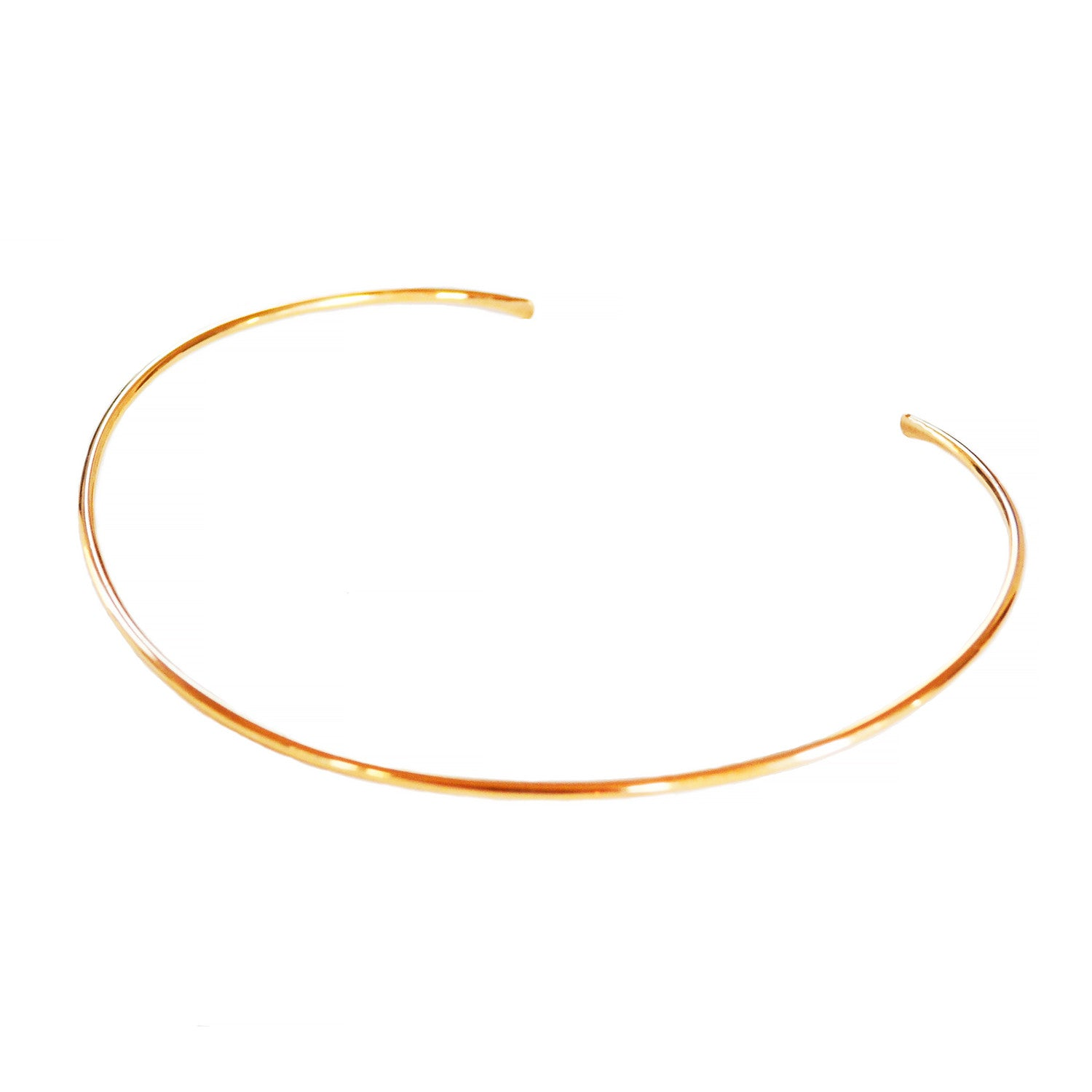 simple choker, open choker necklace in gold