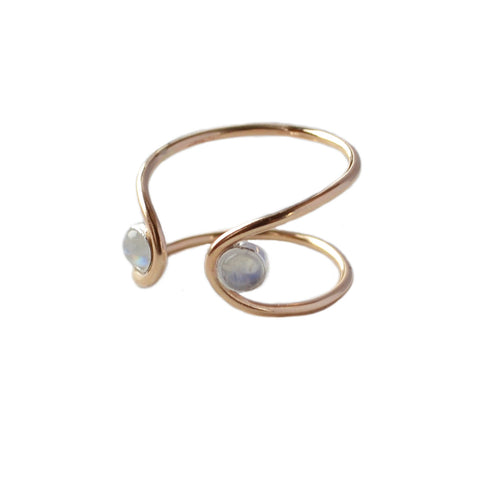 Eclipse Ring, Moonstone, Gold or Silver