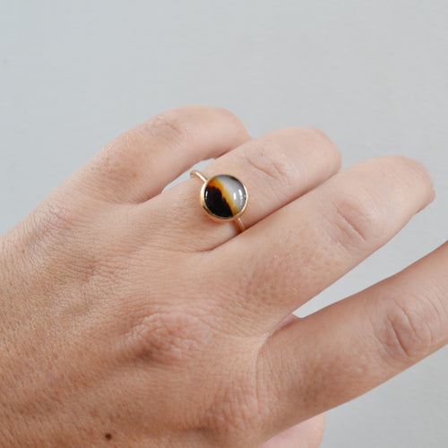 Desert Sunset Ring, Gold or Silver