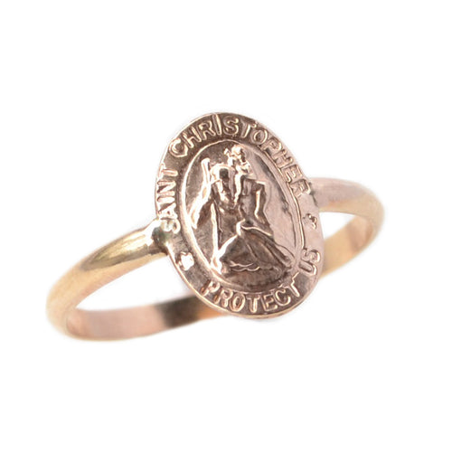 Small St. Christopher Ring