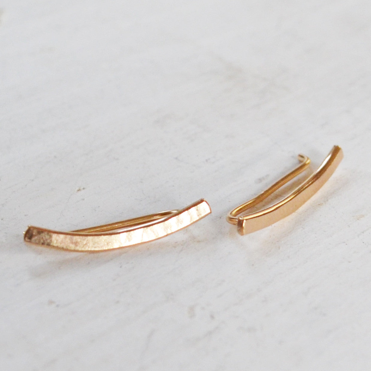The Mini Minimalist Ear Climber, Gold, Rose Gold, and Sterling