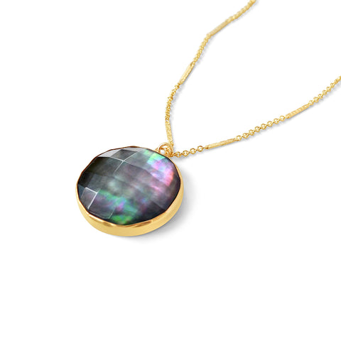 Abalone Coin Necklace