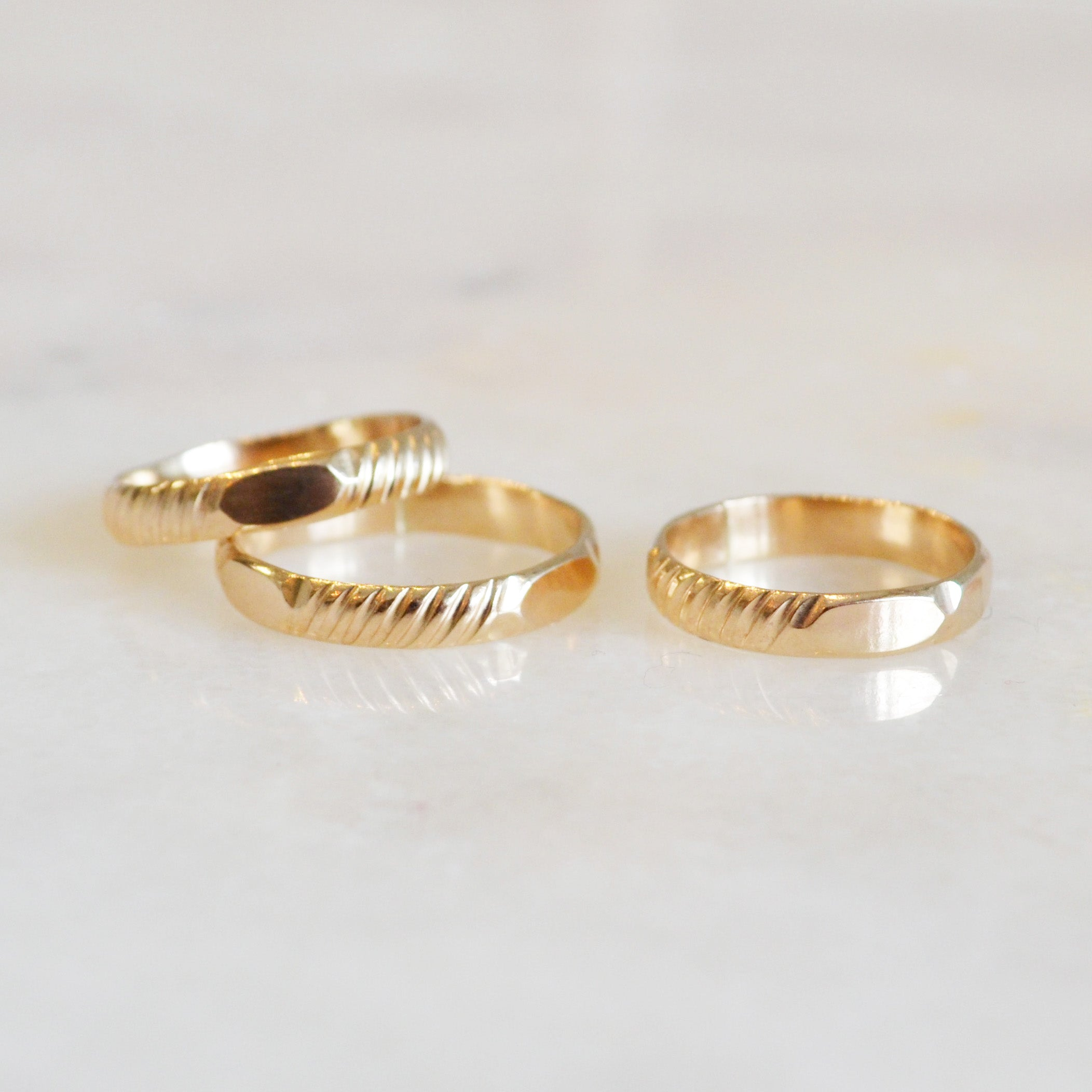 Textured Band Ring, Gold