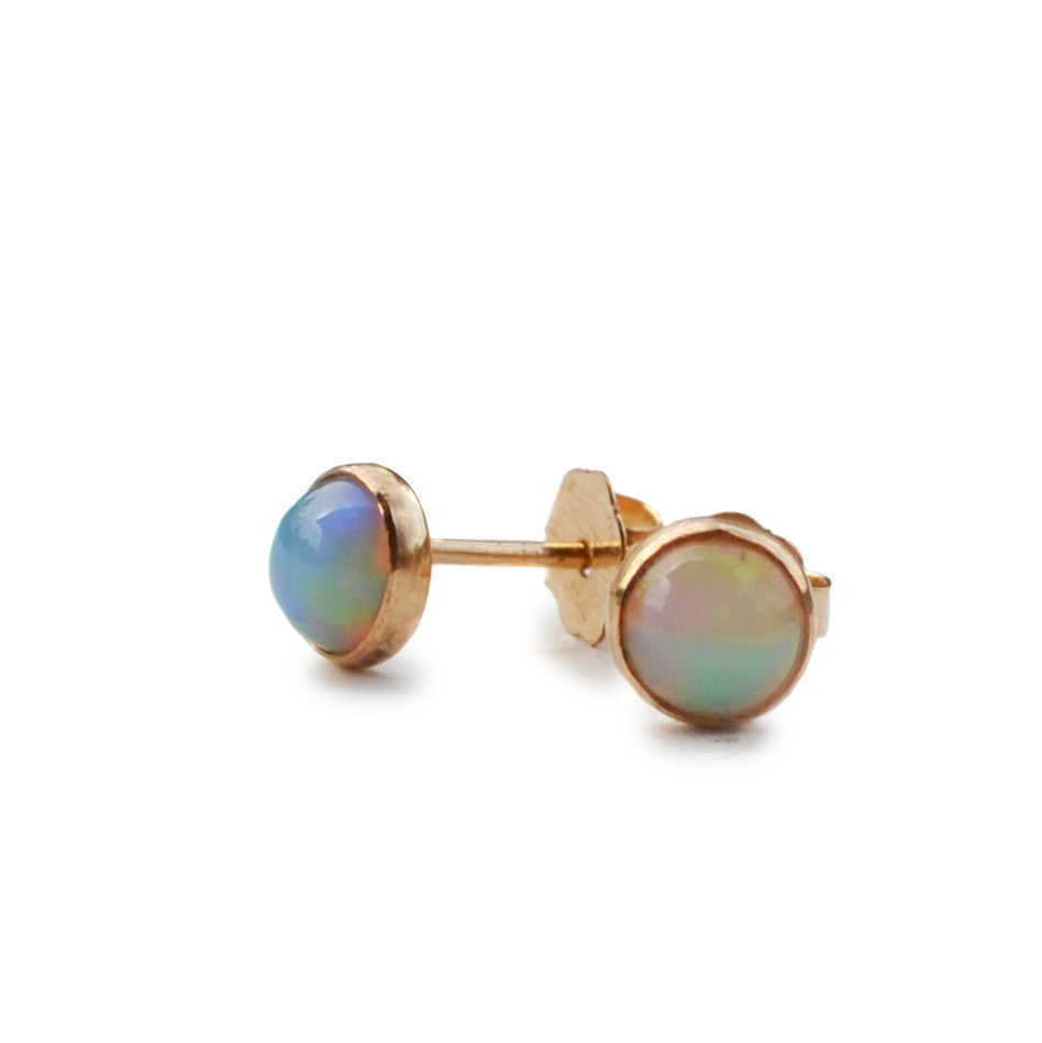 Opal Stud Earrings, Gold or Silver