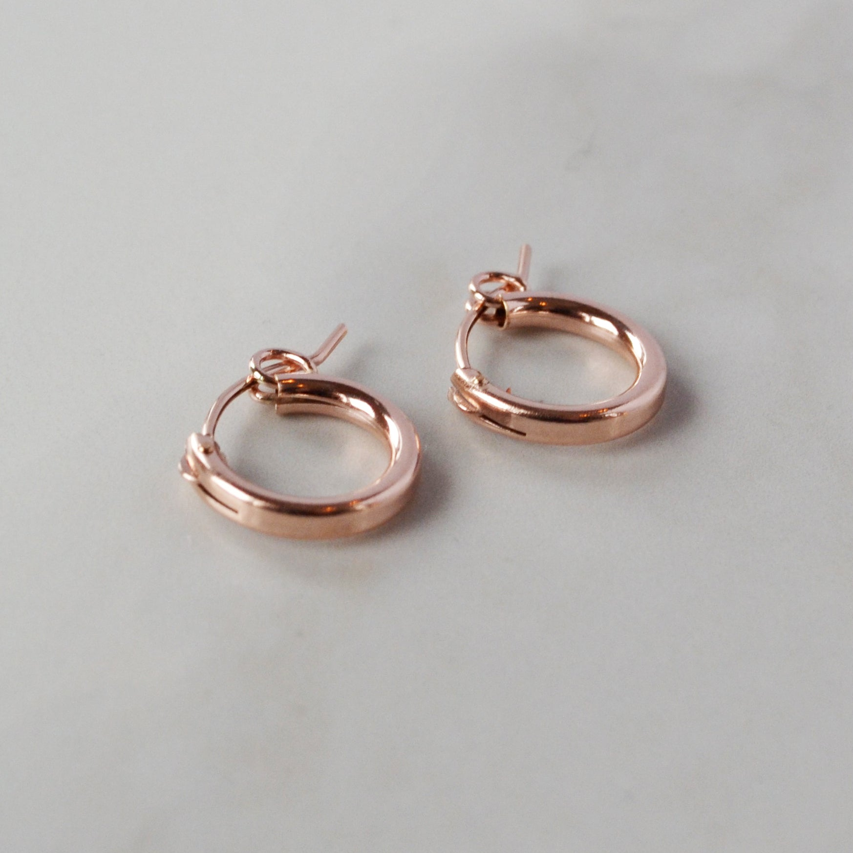 Simple Huggie Hoops, Gold, Rose Gold, or Silver