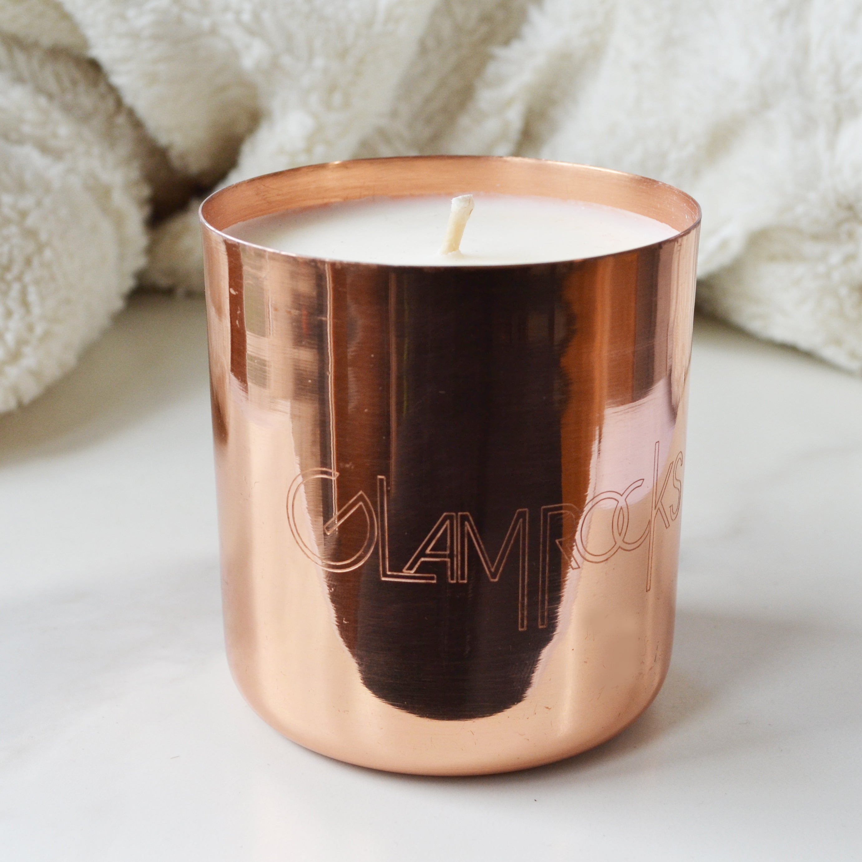 Glamrocks Copper Candle