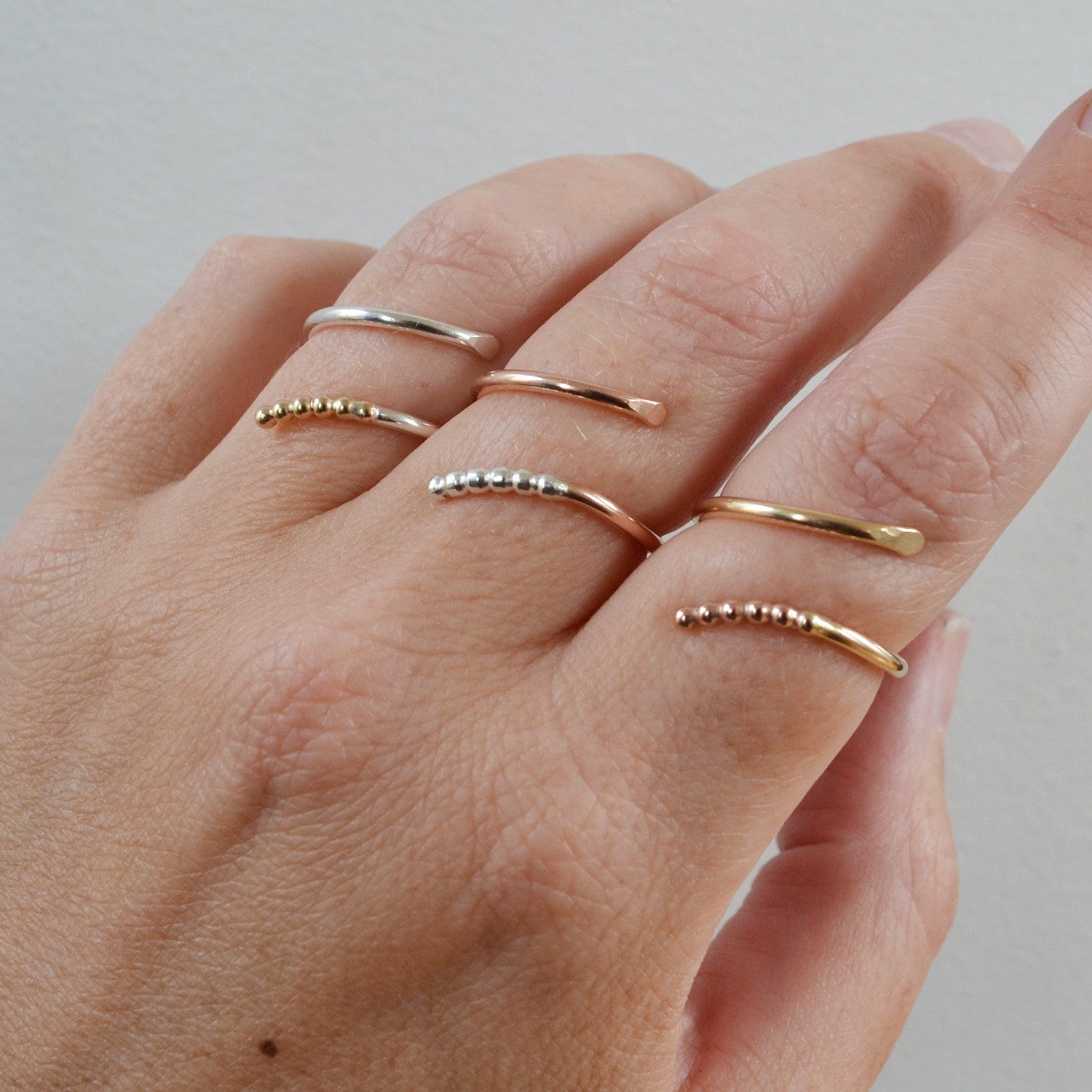 Rattlesnake Ring, Gold, Rose Gold, or Sterling Silver