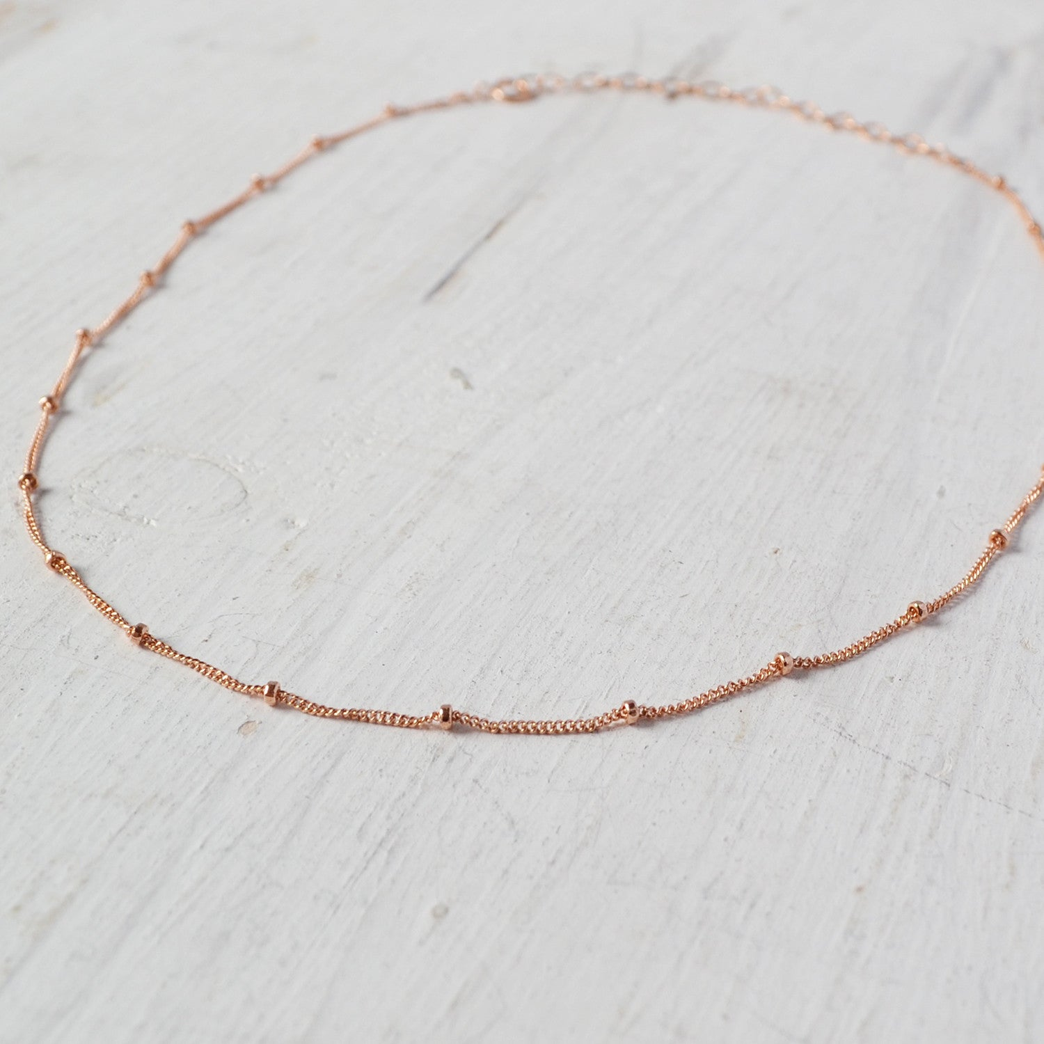 rose gold chain choker by glamrocks jewelry