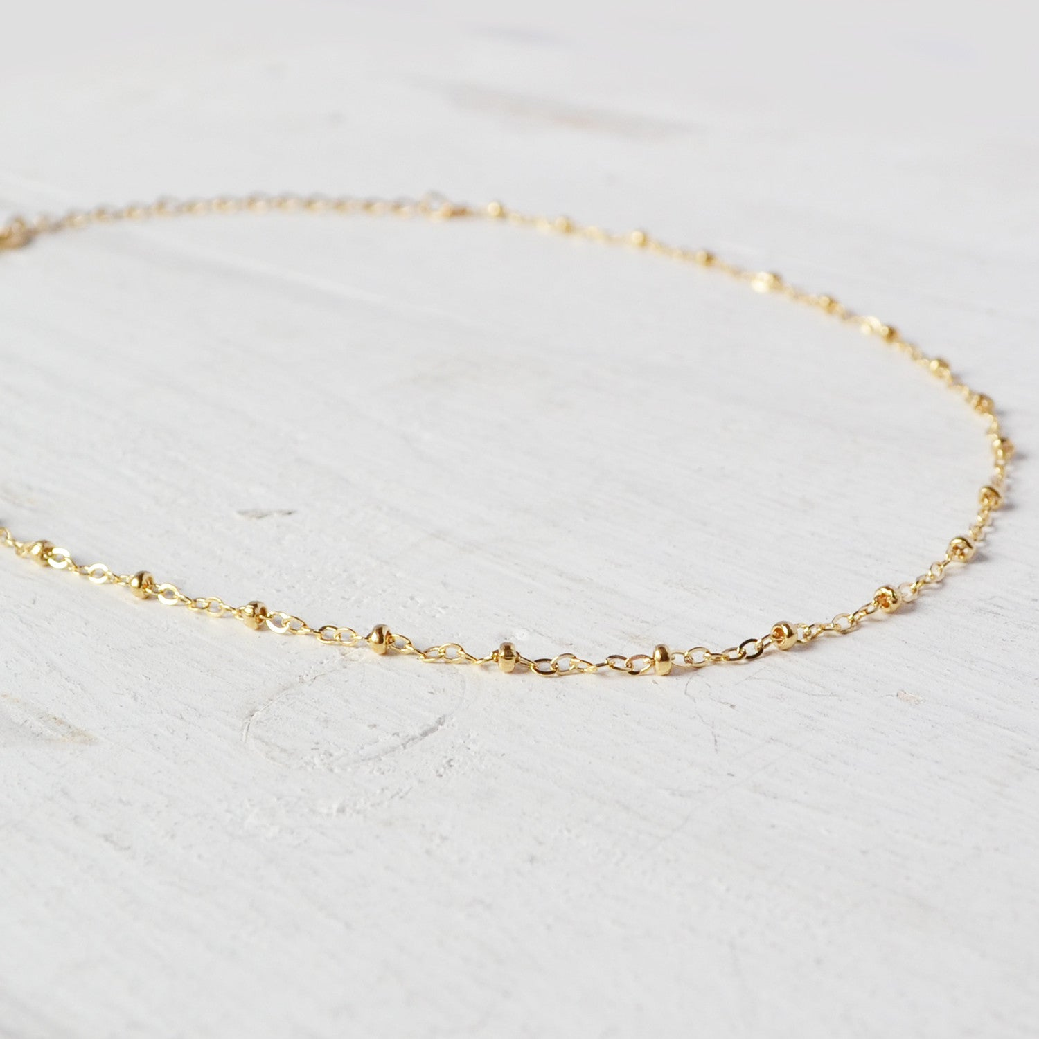 gold chain choker necklace by glamrocks jewelry