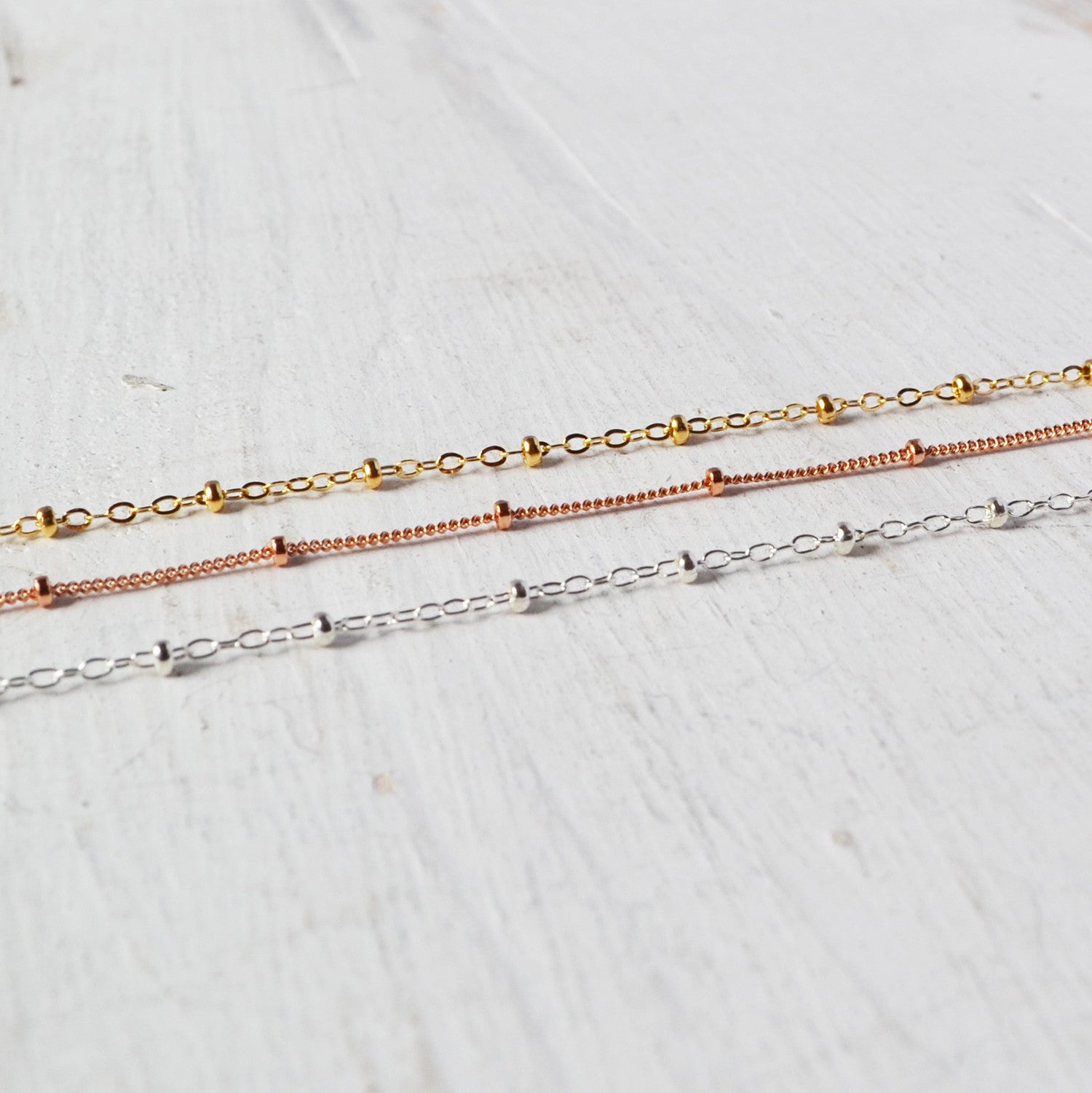 Ball and Chain Choker, Gold, Rose Gold, or Silver