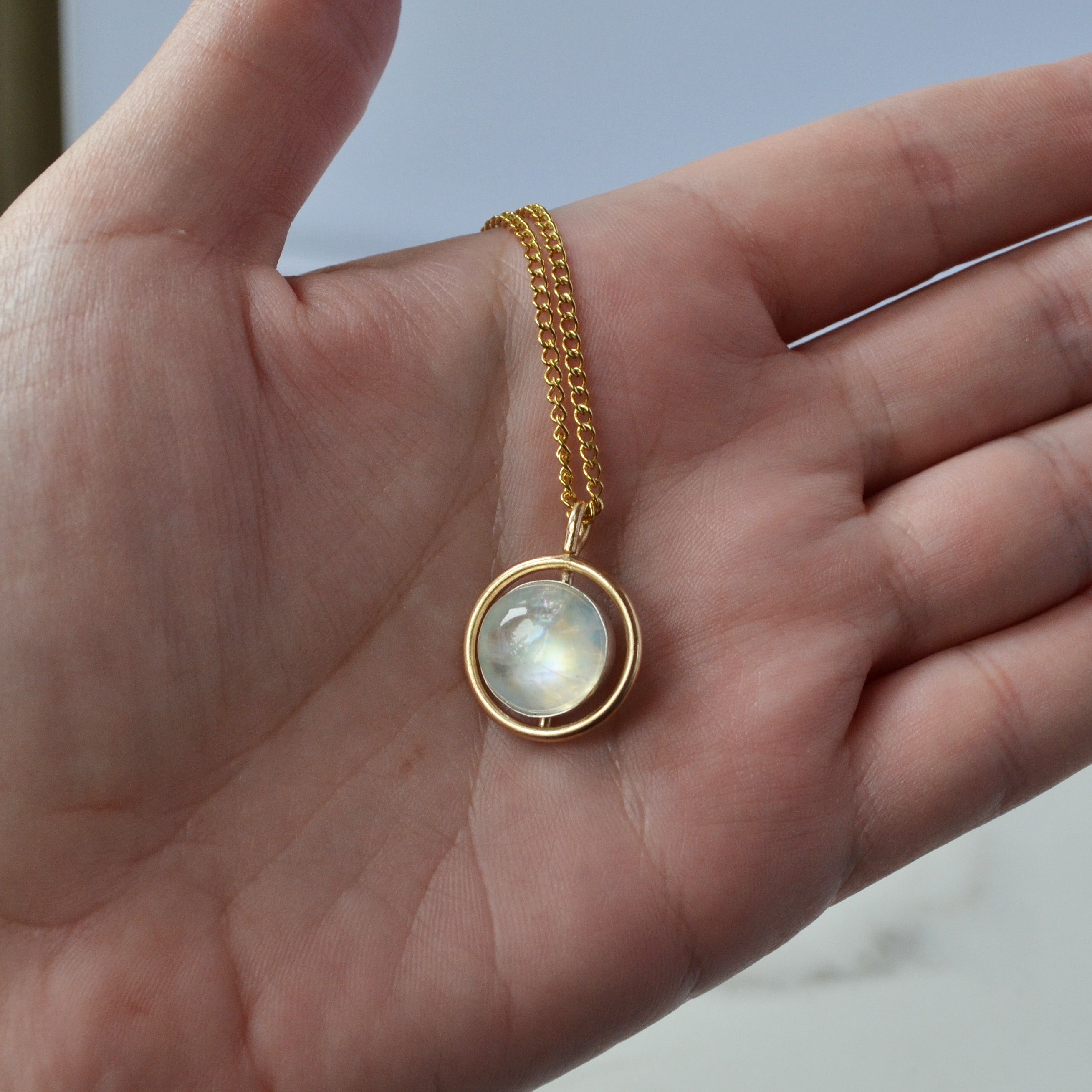 Moonstone Eclipse Necklace