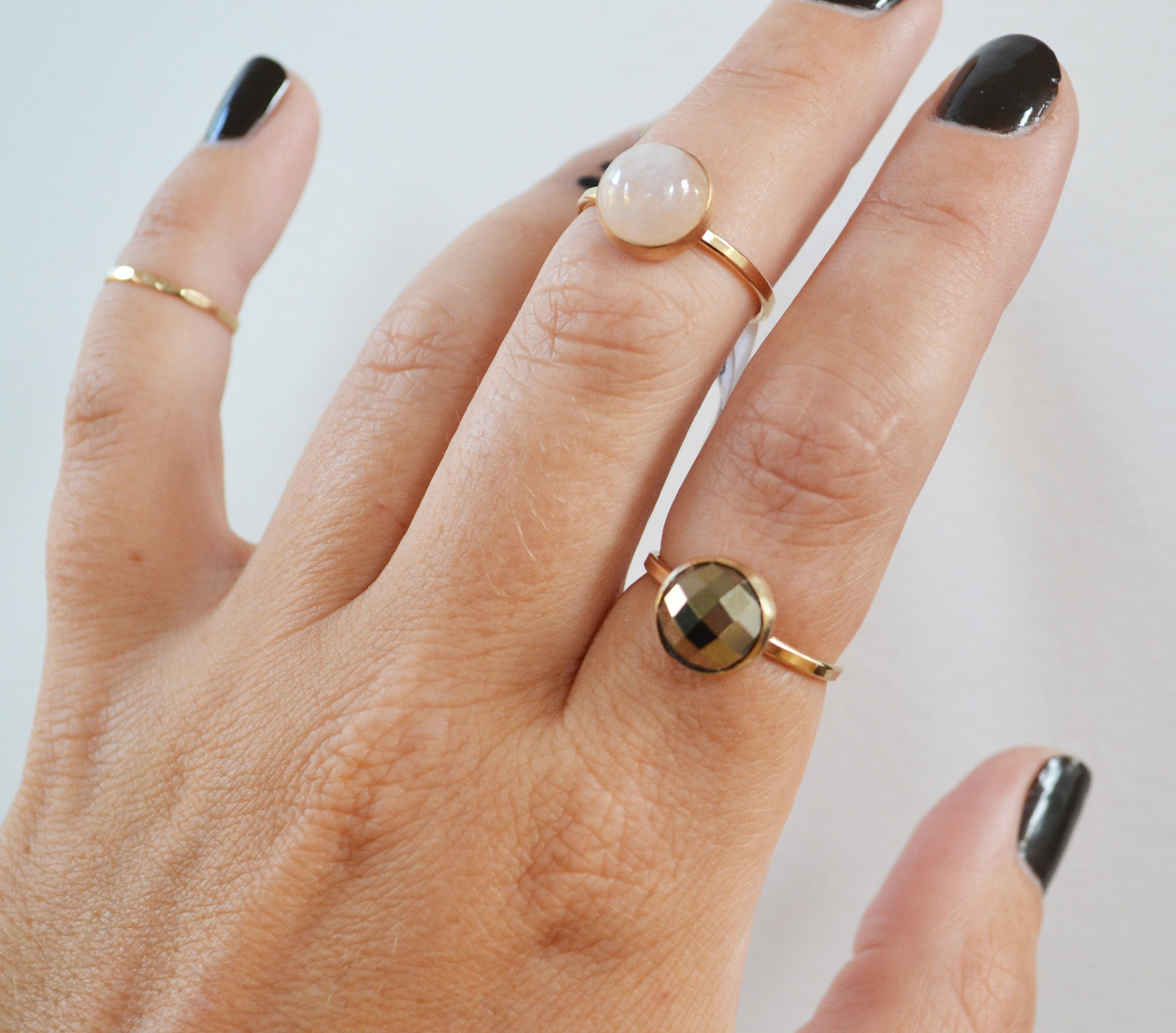 Moonstone Ring, Gold or Silver, As Seen in Health Magazine!