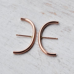 Minimalist Ear Suspension Hoop, Gold, Rose Gold, or Silver