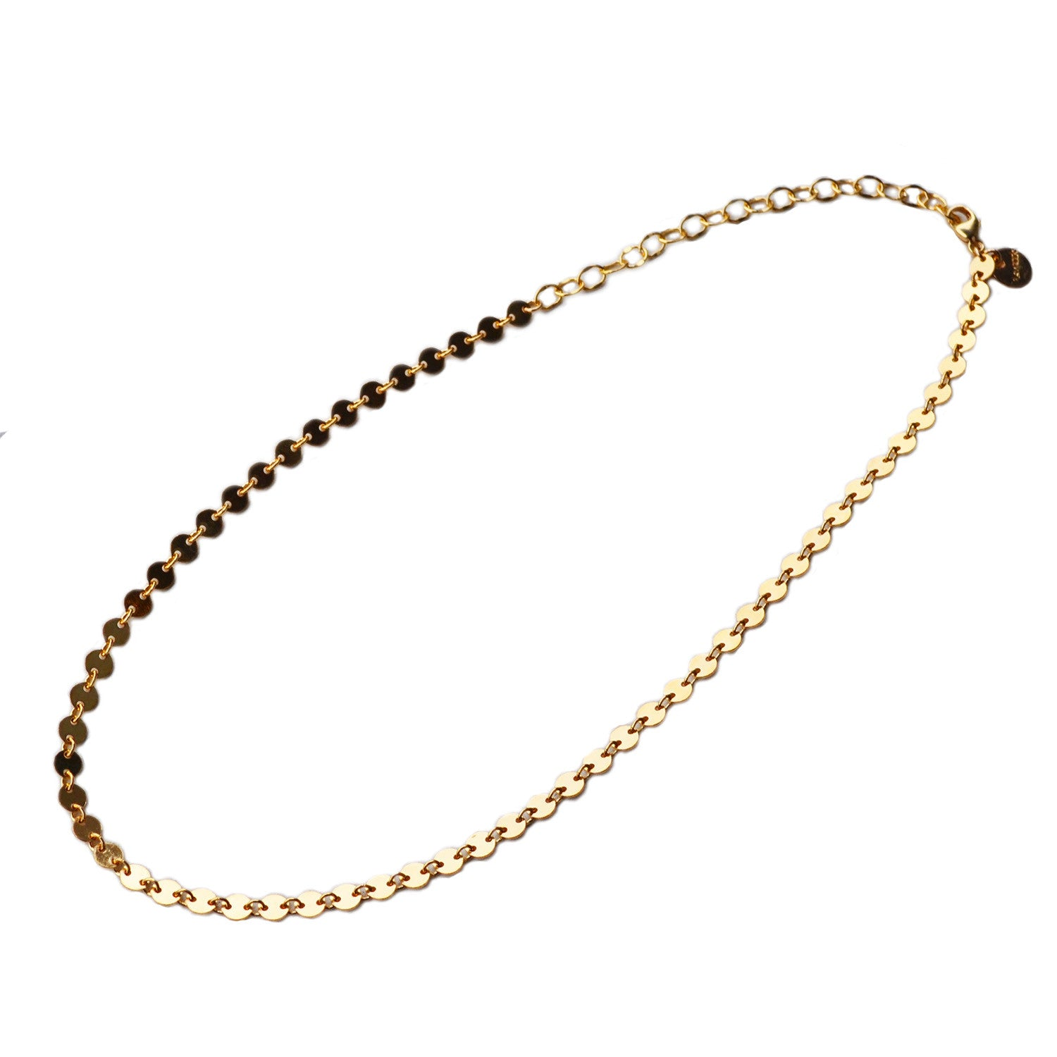 Disco Chain Necklace, Gold, Rose Gold, or Silver