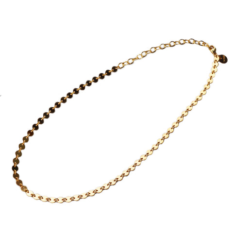 Bar Chain Necklace, Gold or Silver