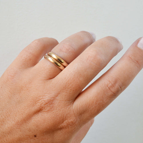Thick Band Ring, Gold or Silver