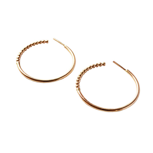 Rattlesnake Hoop Earrings, Gold, Rose Gold, or Silver