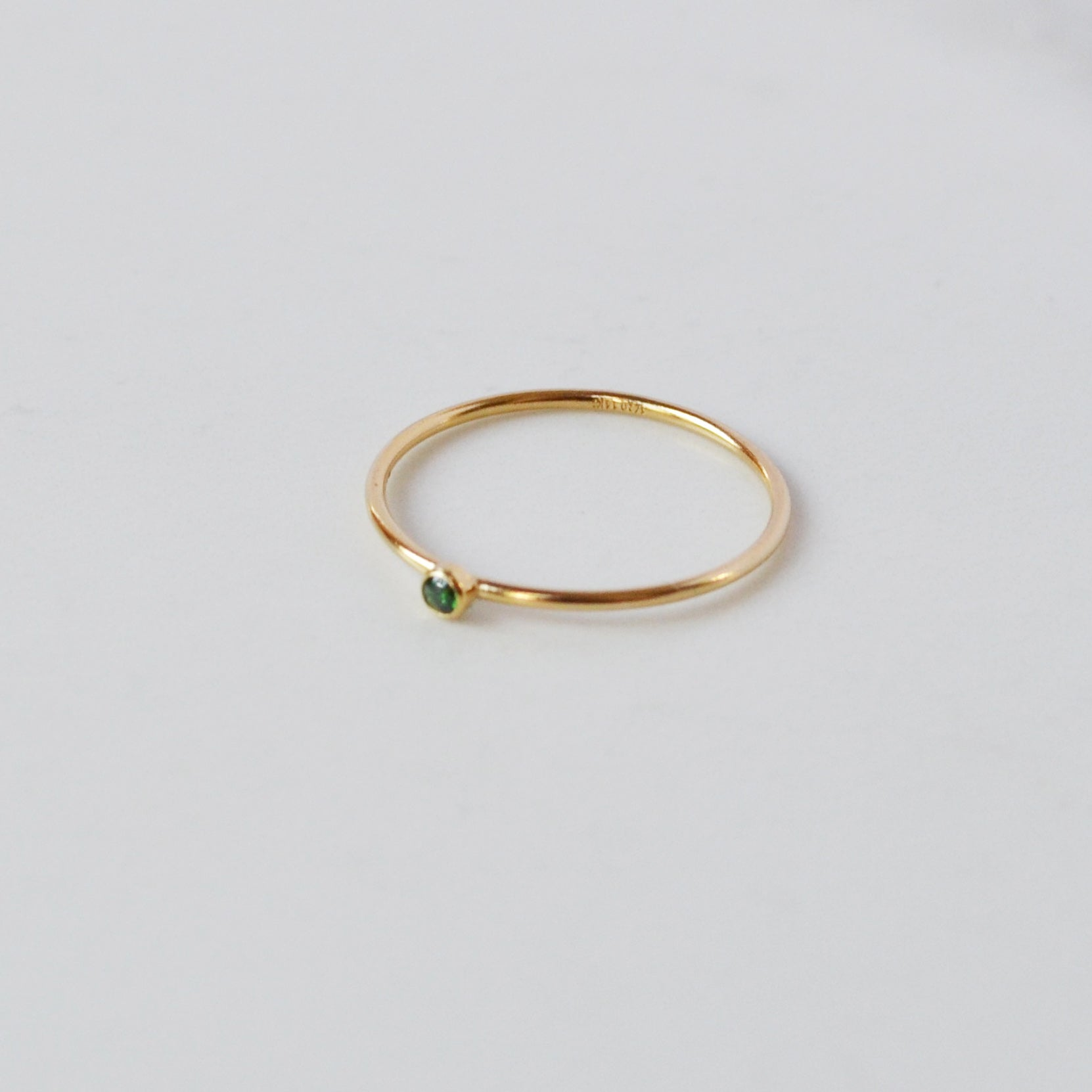 Emerald Tiny Stone Ring
