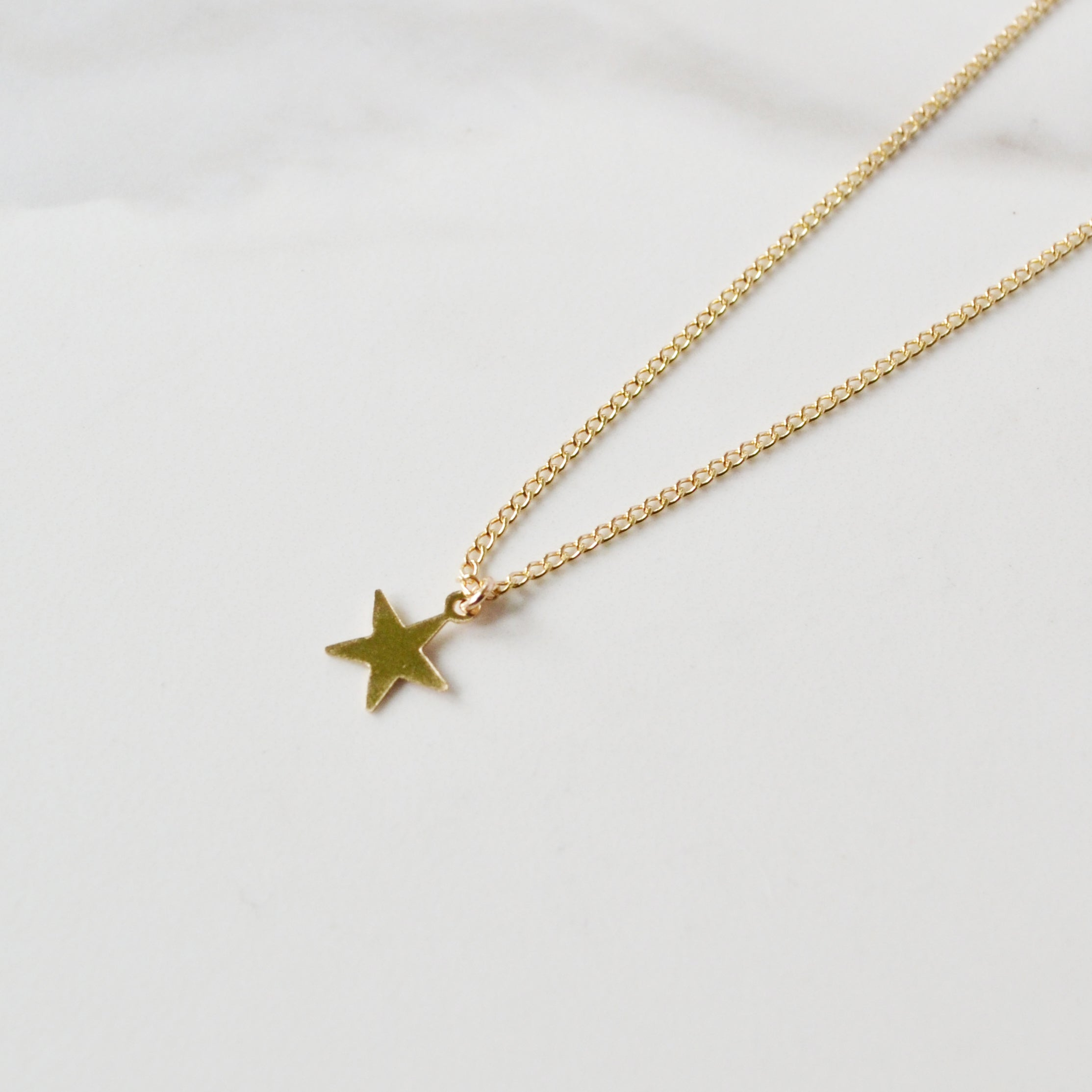 Star Necklace, Gold or Silver