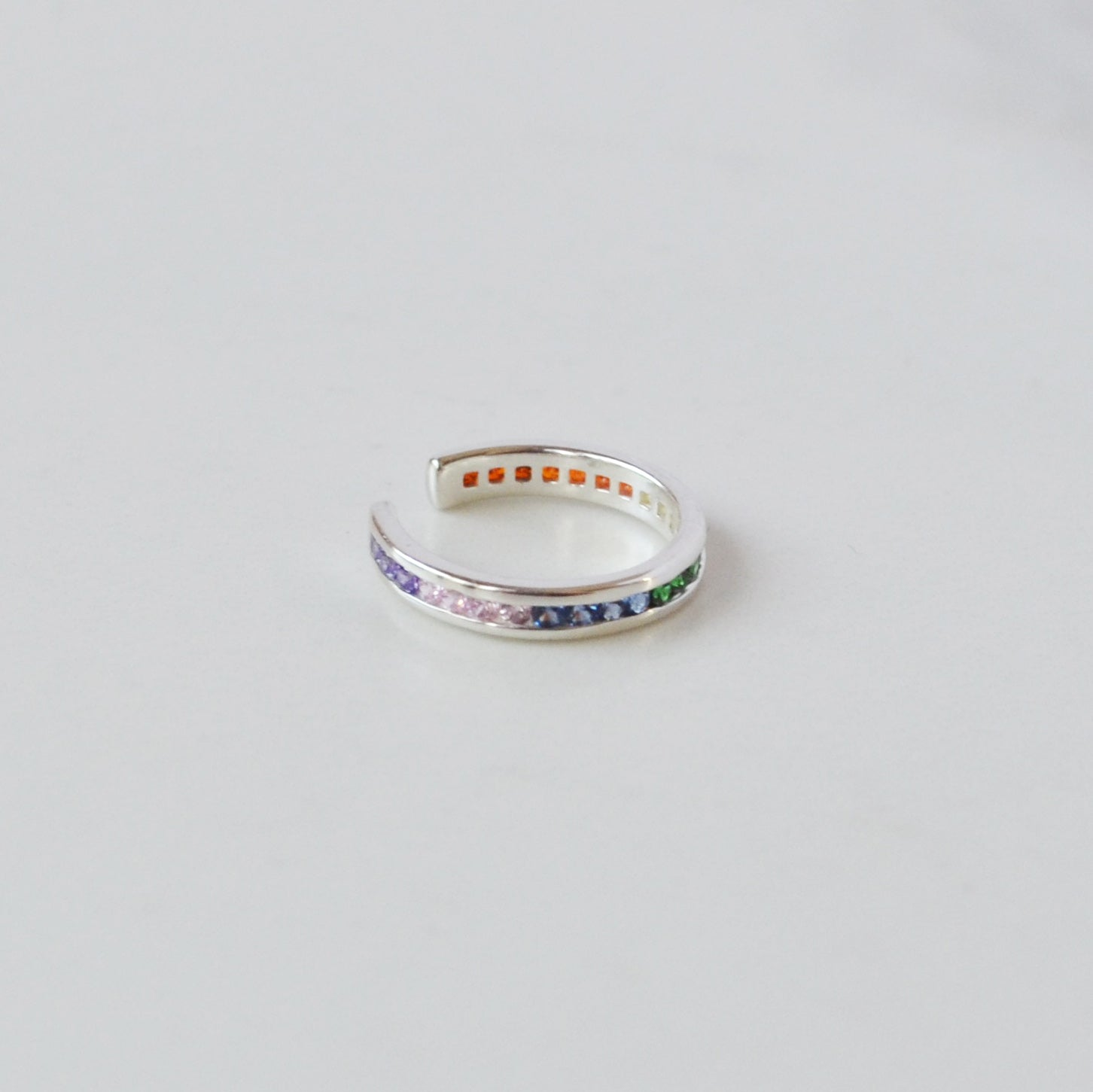 Pave Ear Cuff, Rainbow