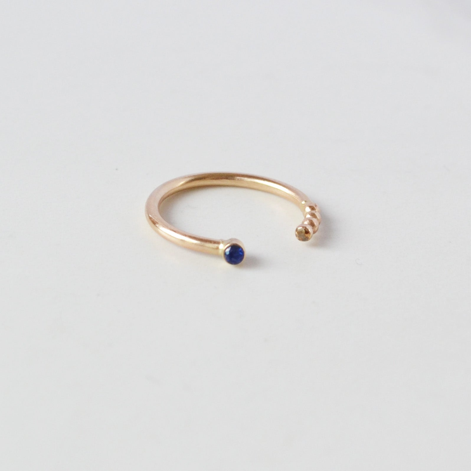 Coil Ring, Sapphire