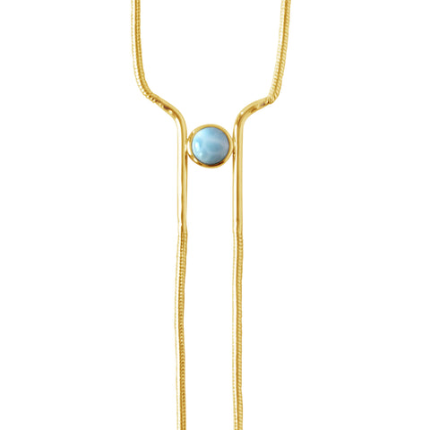 Sunray Necklace- Ocean Quartz