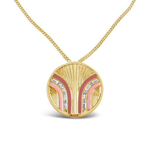 South Beach Coin Necklace - Coral/Cinnamon