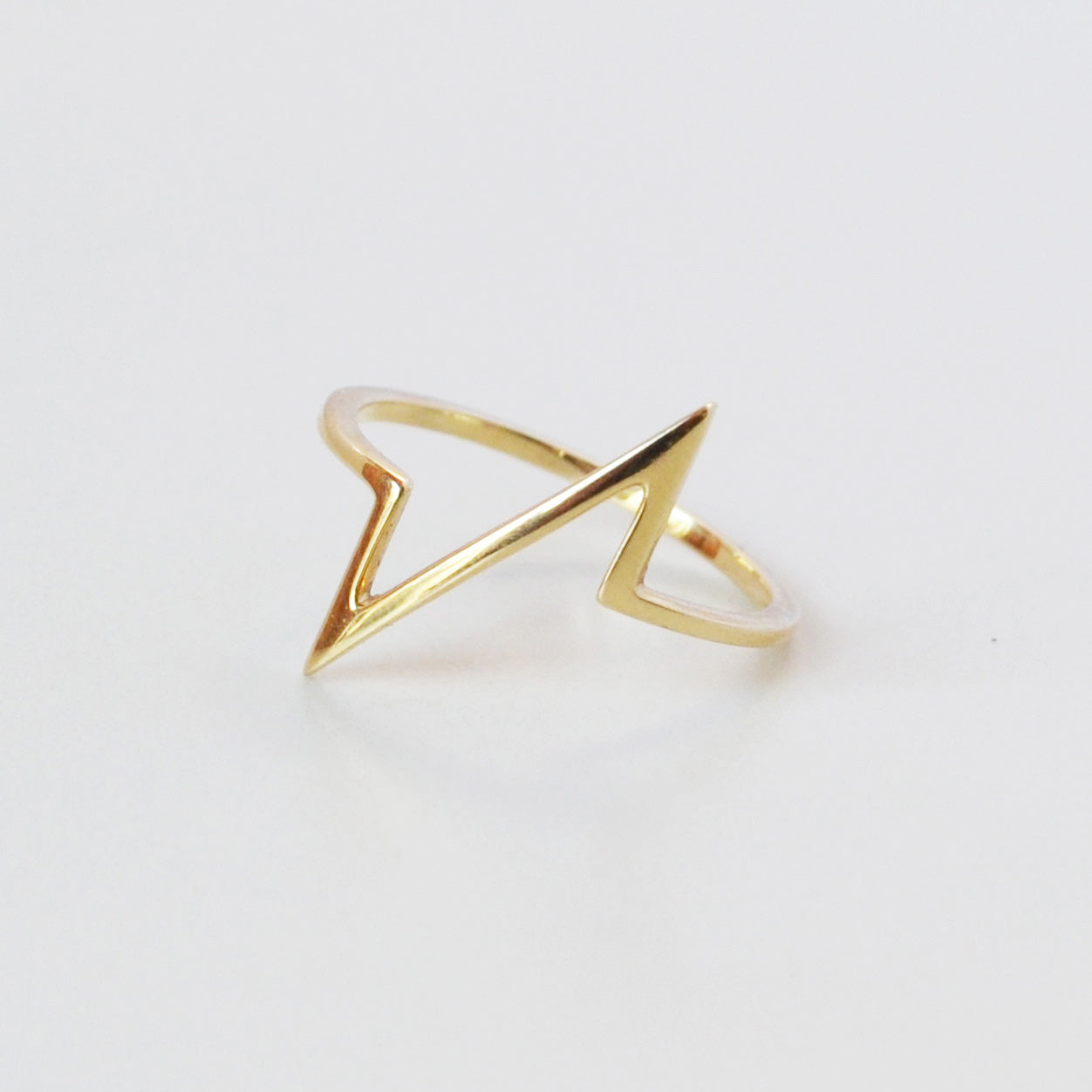 Breakline Ring, Gold or Silver