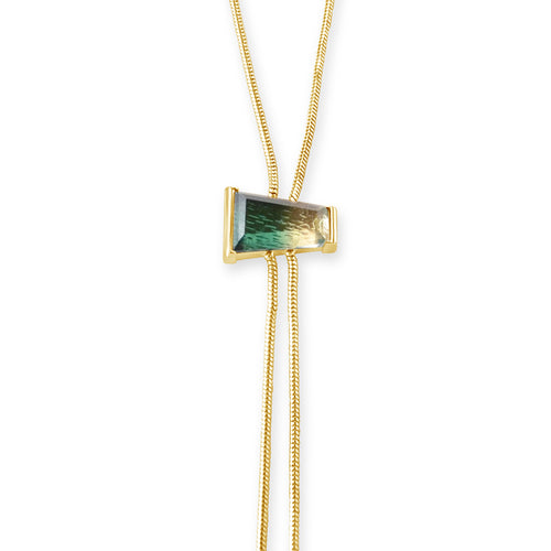 Delano Bolo Necklace - Green Quartz