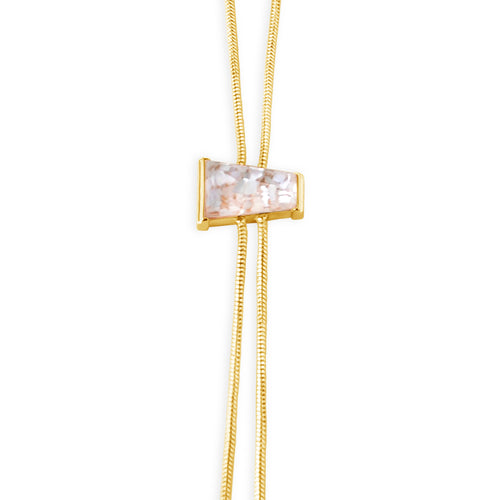 Delano Bolo Necklace - Mother of Pearl