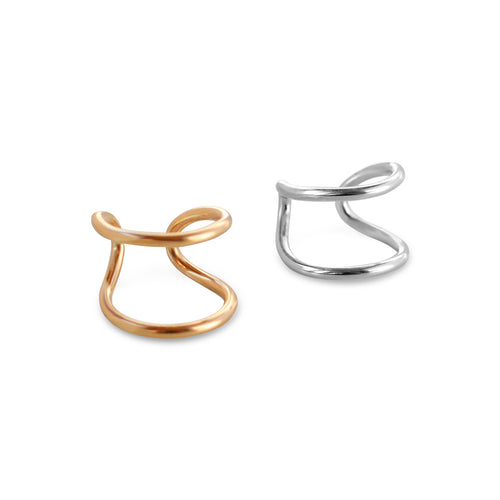 Double Ear Cuff, Gold, Rose Gold, or Silver