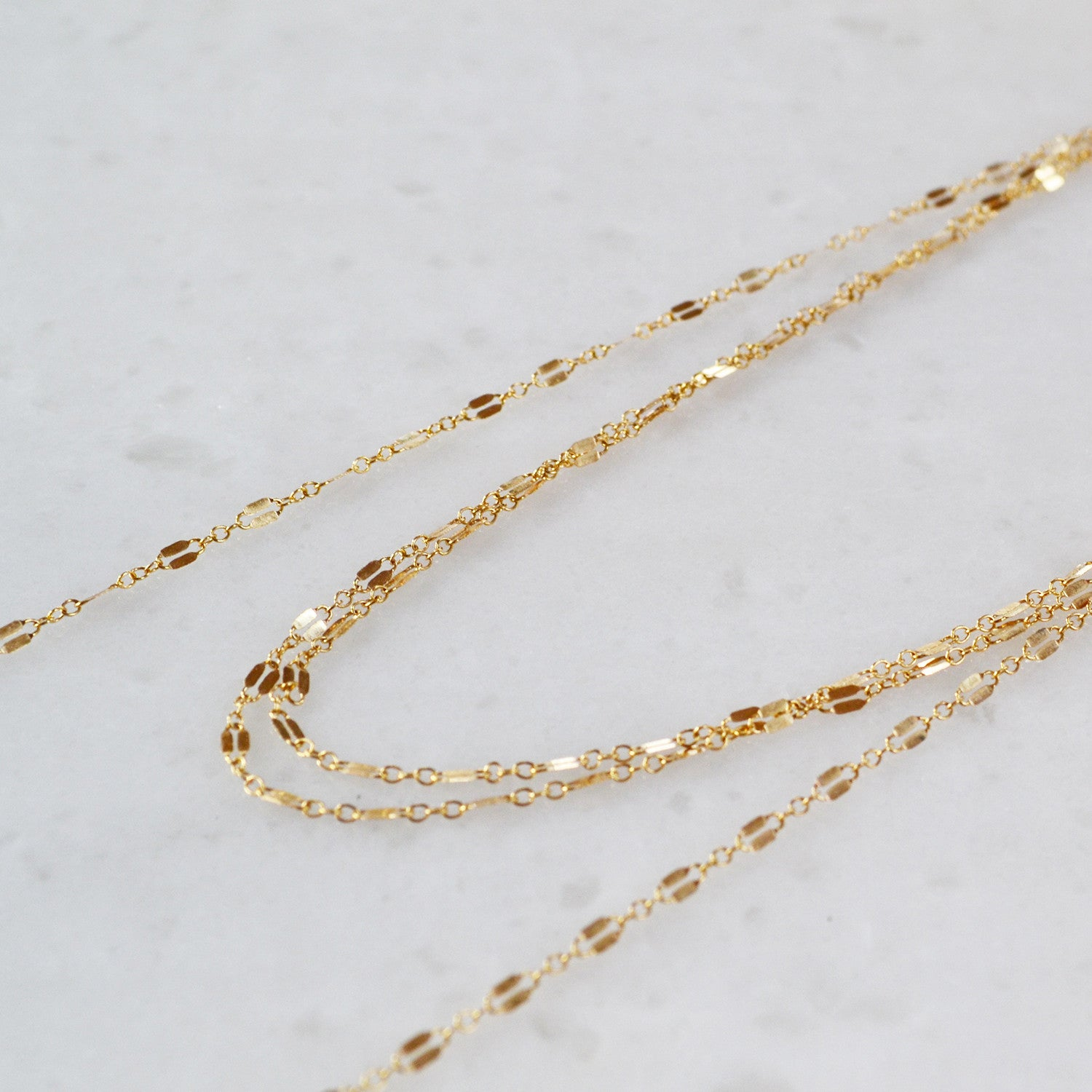 Chain Wrap Choker Necklace, Gold, Rose Gold, or Sterling