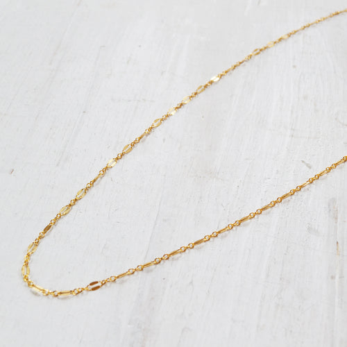 Shimmer Chain Necklace, Gold, Rose Gold, or Silver