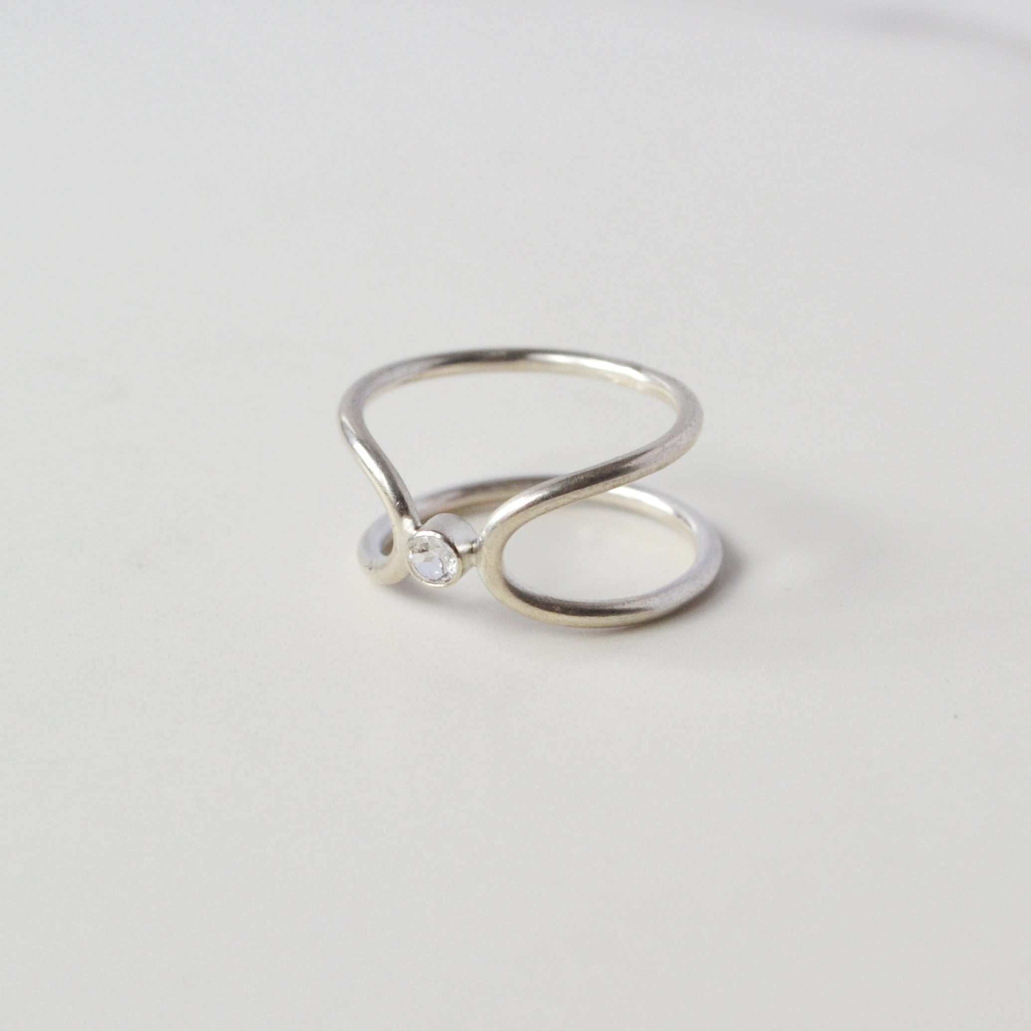 Bound Ring in CZ, Gold or Silver
