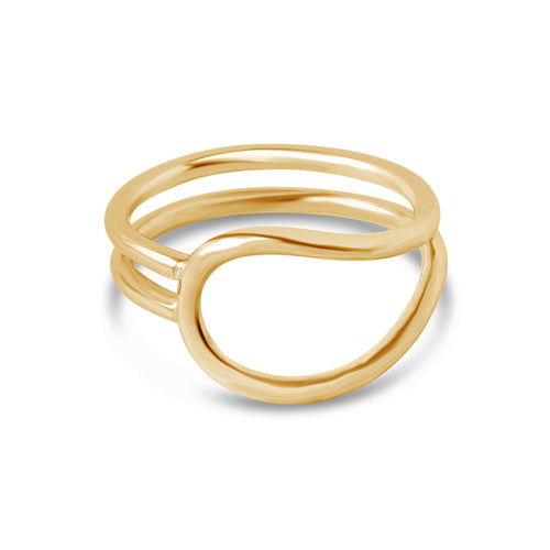 Lasso Ring, Gold or Silver