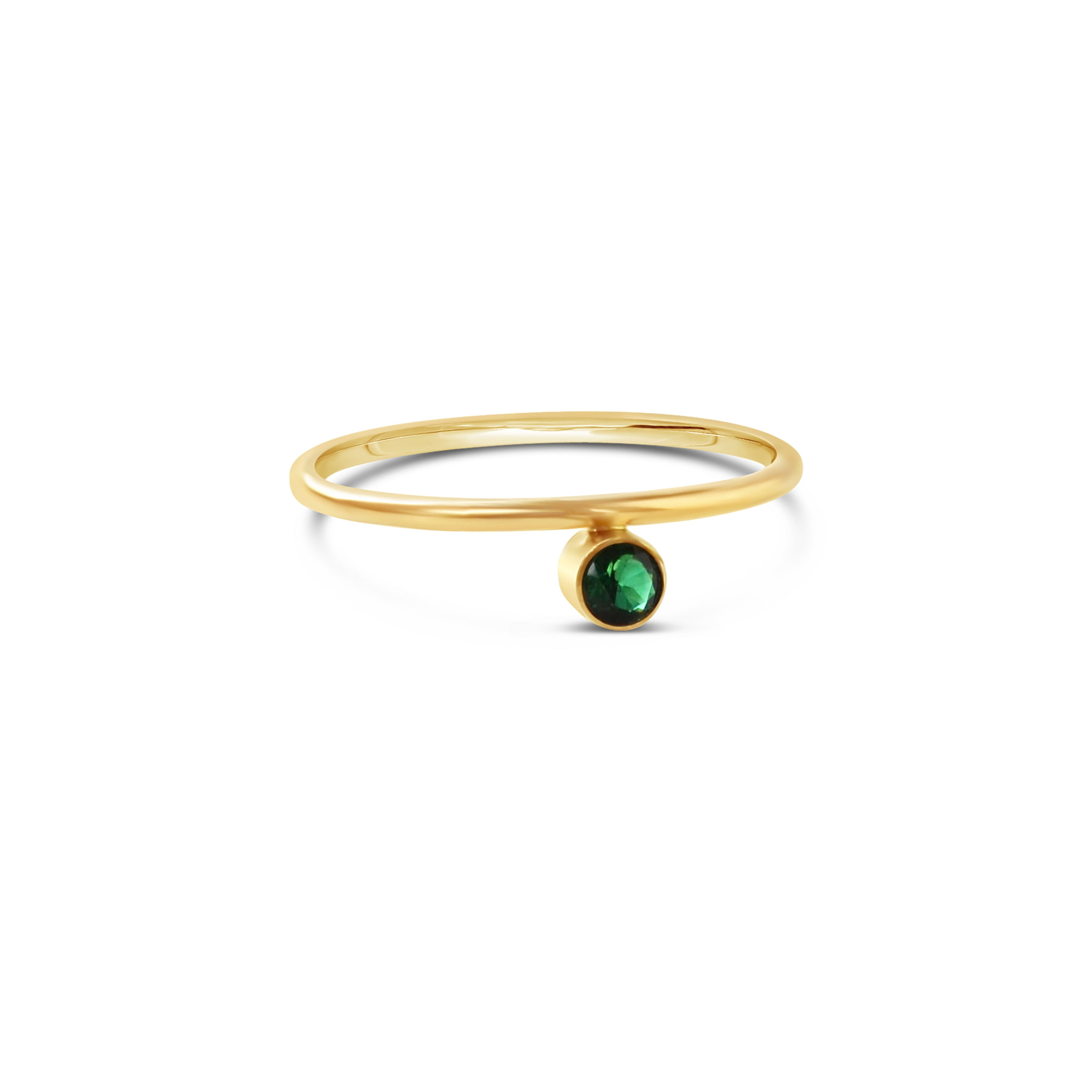 Offset Gemstone Stacking Ring