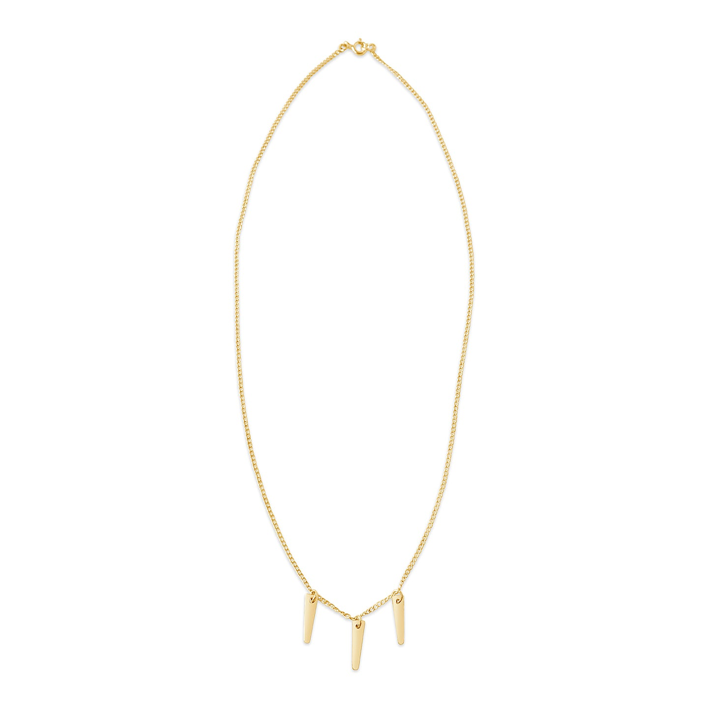 spike necklace in gold for sale by glamrocks jewelry