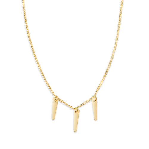 Three Spike Necklace