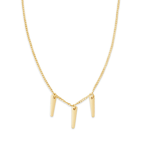 Lightning Bolt Necklace, Gold or Silver
