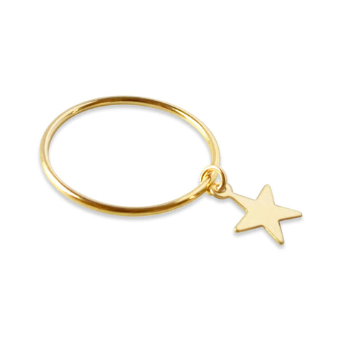 Lightning Bolt Ring, Gold or Silver