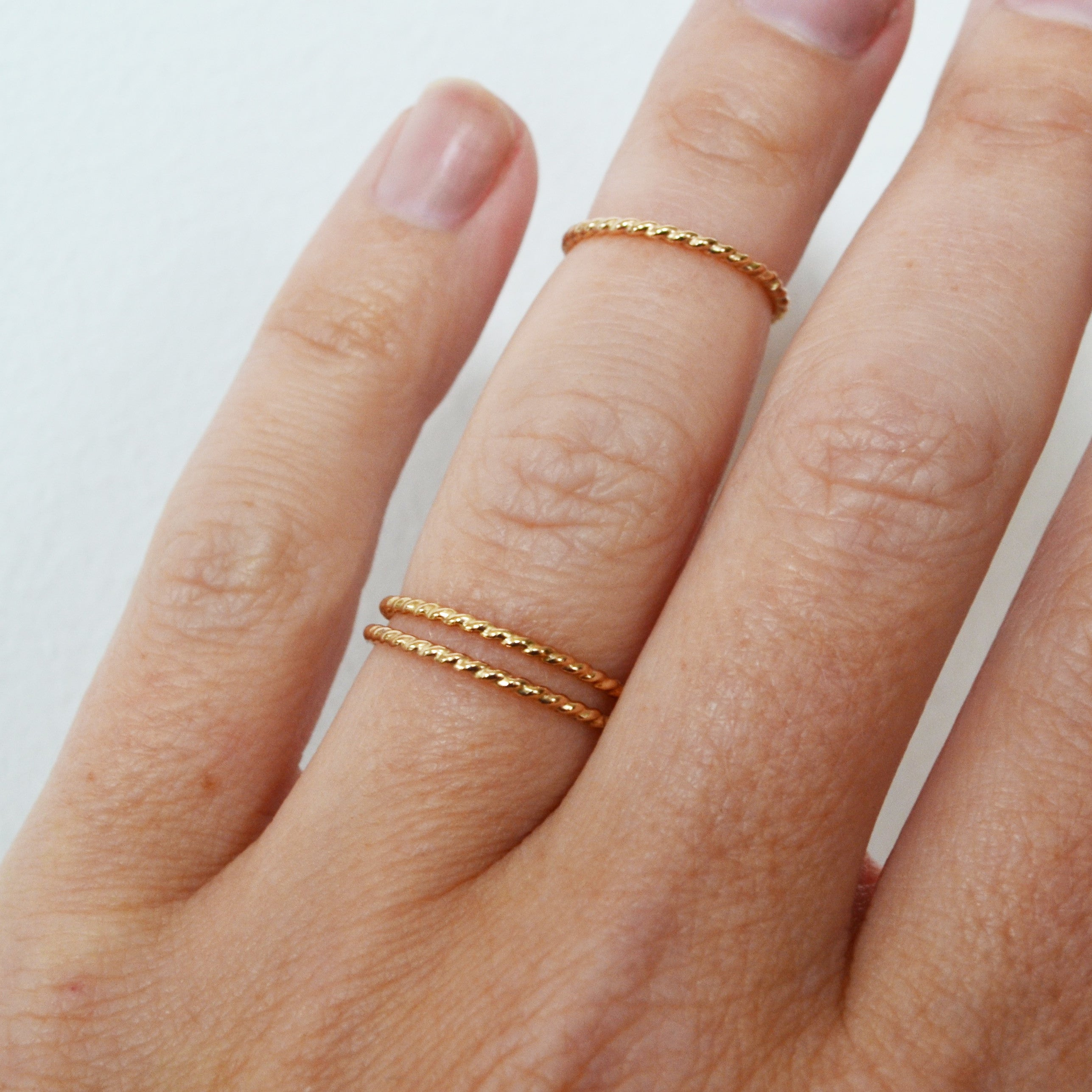 Glitter Stacking Ring, Gold, Rose Gold, or Silver